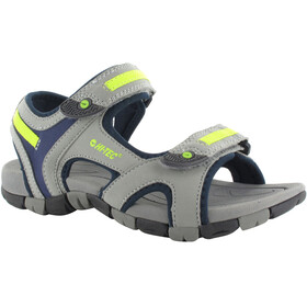 Hi-Tec GT Strap Sandals Juniors Cool Grey/Majolica Blue/Limoncello